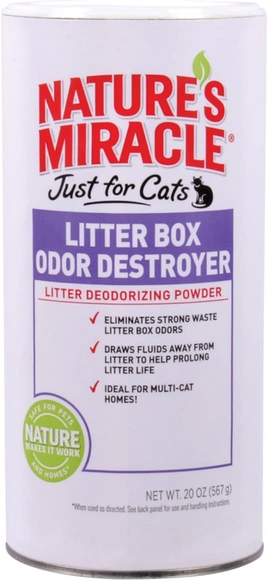 Nature's Miracle Just for Cats Litter Box Odor Destroyer Powder - 20 oz (Pack of 4)