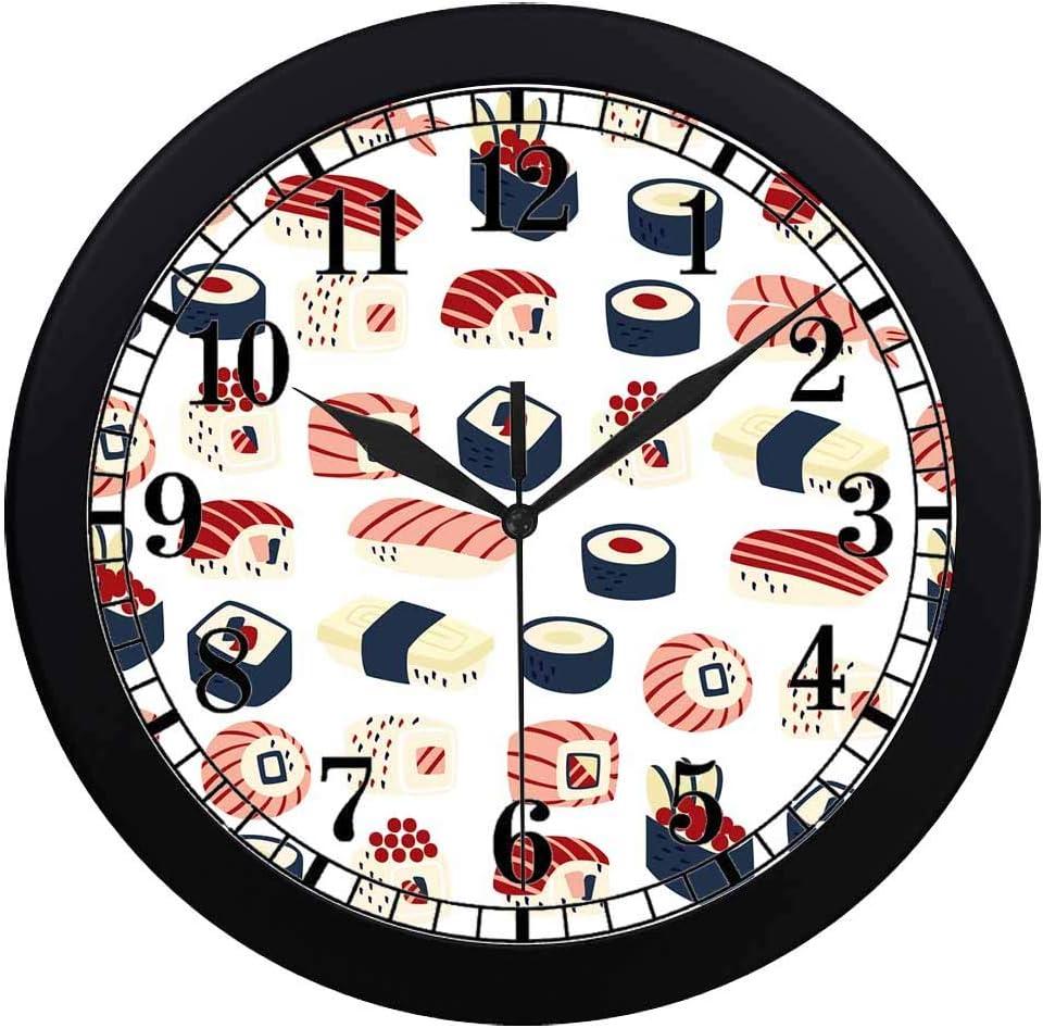 INTERESTPRINT Traditional Japanese Food Unique Elegant Wall Clock