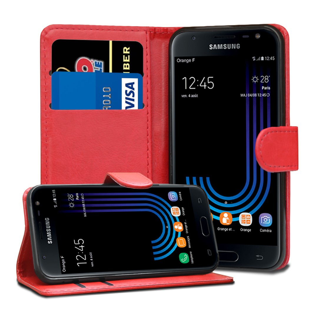 Jonlineuk Galaxy J3 2017 Case, [Card Holder] Magnetic Luxury PU Wallet Cover - Premium Flip Leather Case For Samsung Galaxy J3 2017
