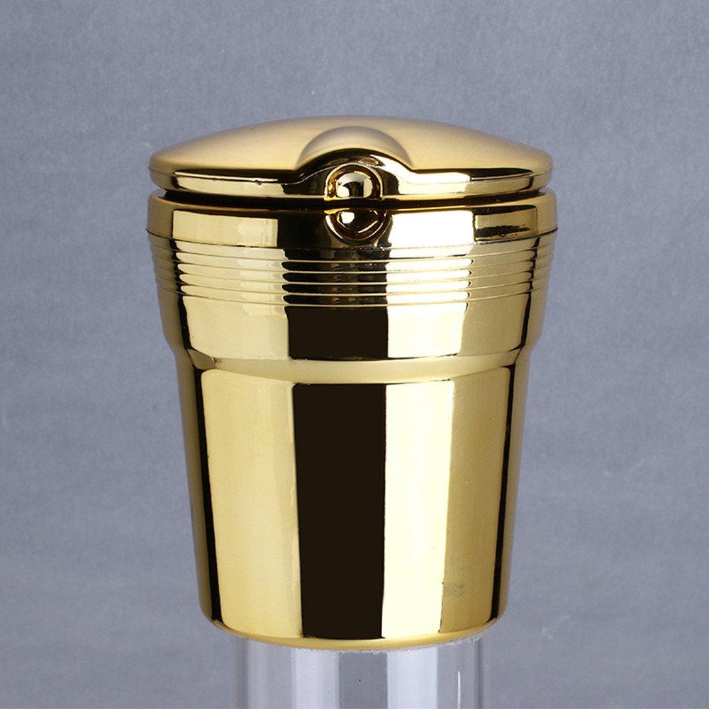 Cendrier Voiture LED Multifonction Haute Temp/érature Couverture M/étallique Cr/éatif