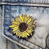 Hand Painted Sunflower Brooch | Handmade Sun Flower Pin...