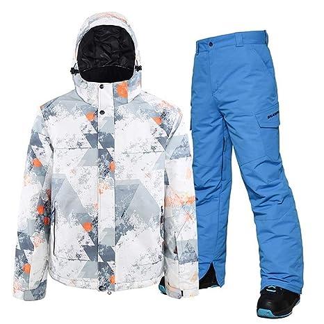 YUMUYMEY Snowboard Ropa de Hombre de Traje de Nieve en Color a ...