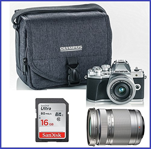 Olympus OM-D E-M10 Mark III (Mark 3) Digital Camera [Silver] + M.Zuiko Digital ED 14-42mm f/3.5-5.6 EZ Lens (Silver) + M.Zuiko Digital ED 40-150mm f/4.0-5.6 R Lens (Silver)