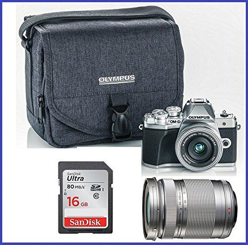 Olympus OM-D E-M10 Mark III (Mark 3) Digital Camera [Silver] + M.Zuiko Digital ED 14-42mm f/3.5-5.6 EZ Lens (Silver) + M.Zuiko Digital ED 40-150mm f/4.0-5.6 R Lens - Photo Video Ap