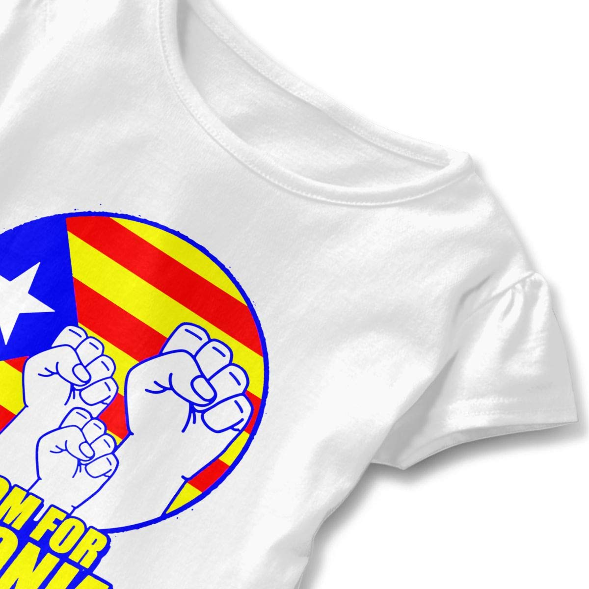 SC/_VD08 Freedom for Catalonia Baby Girls Round Collar Tshirts Dress