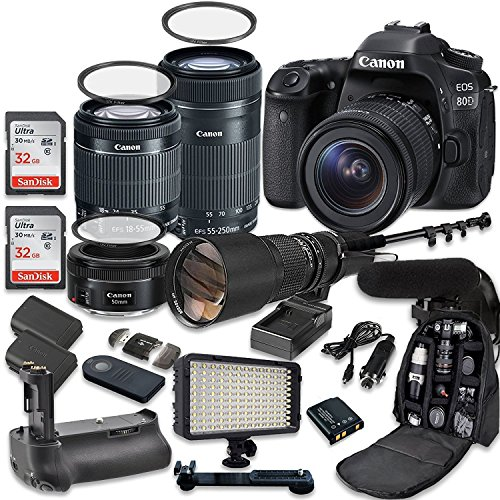 Canon EOS 80D Accessory Bundle 4