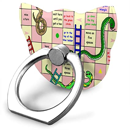 Amazon com: Cell Phone Holder Pin Snakes Ladders Cat Type Ring