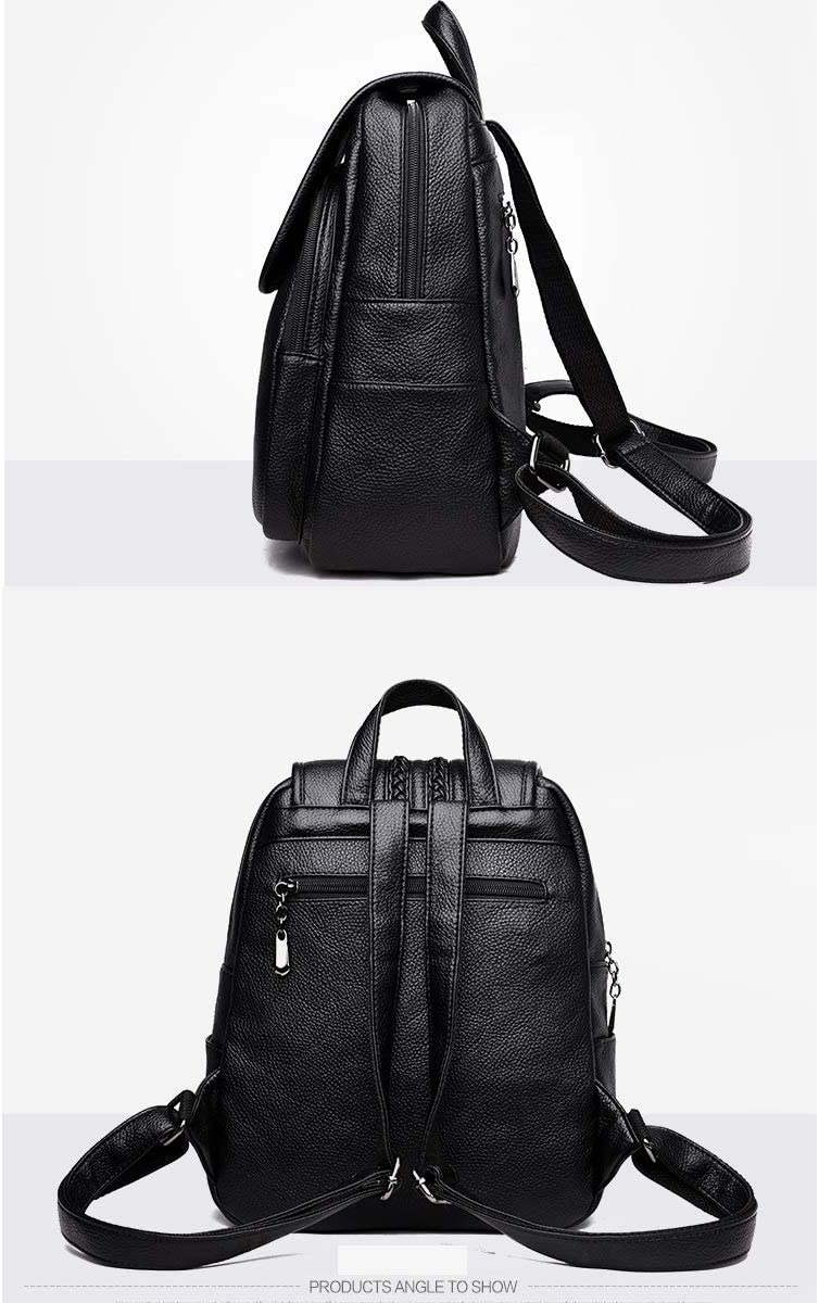 Black//Blue//Gray//Red Practical and Simple. Haoyushangmao Girls Multi-Purpose Backpack for Everyday Travel//Outdoor//Travel//School//Work//Fashion//Leisure PU Leather