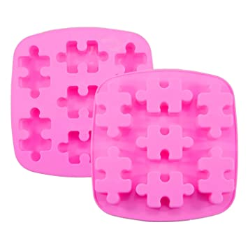 Himi Puzzle Piece Mold Puzzle Crayons Maker - Set of 2 - Non-stick Heat