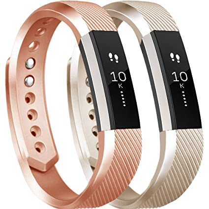 Tobfit 2Pcs Fitbit Alta Bands/Fitbit Alta HR Bands for Women and Men,  Smooth TPU Classic Accessory Band Wristband for Fitbit Alta/Fitbit Alta HR,