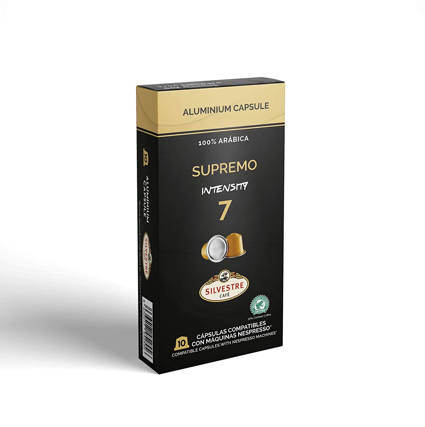 Imported SPANISH Coffee Espresso Compatible Nespresso Machine Aluminum Pods single cup (SUPREMO, 40 Pods): Amazon.com: Grocery & Gourmet Food
