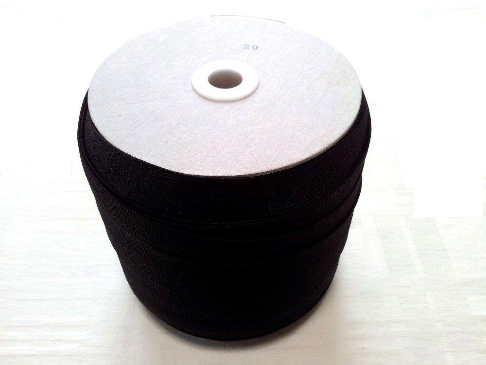 織ゴム織りゴム 平ゴム 手芸裁縫洋裁縫製ゴム黒 20mm巾×90m巻 日本製   B00L3CN8NK
