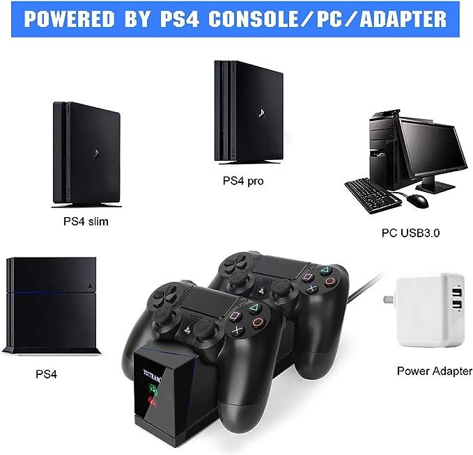 Amazon.com: Cargador para mando de PS4, controlador de carga ...