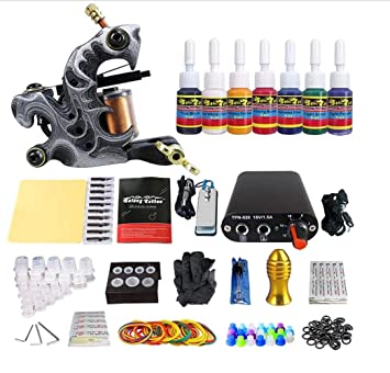 Amazon.com: Professional Cheap Tattoo Machine Set 1 Gun Complete ...