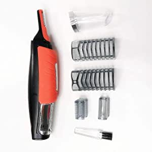 Maquinilla de Afeitar Eléctrica,Barbero Electrico Recortador de Barba y Precisión Afeitadora Corporal para Hombres Profesional Cortapelos Narizy Recargable con USB 2 en 1: Amazon.es: Belleza