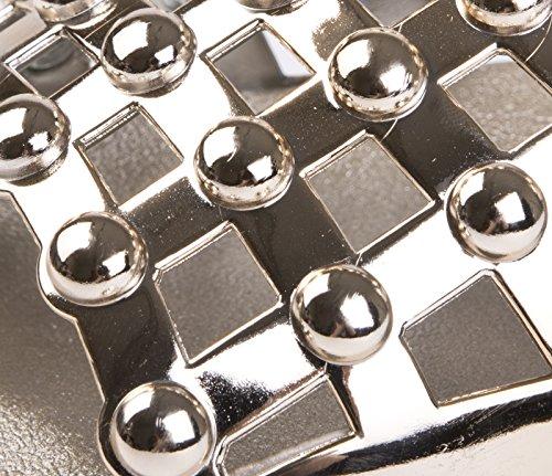 Lora Dora Womens Diamante Faux Fur Sliders Studded Cage - Gold F9bnOHFnu2