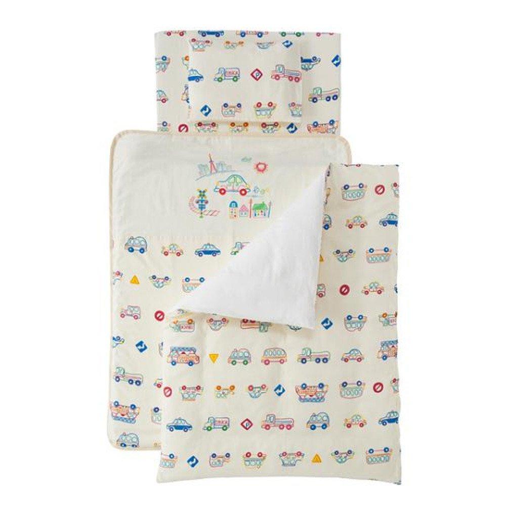 フジキ Wガーゼ ミニ布団7点セット くるまパーク プラス (クリーム) 洗える ベビーふとん 赤ちゃん用  クリーム B072C9CJ5C