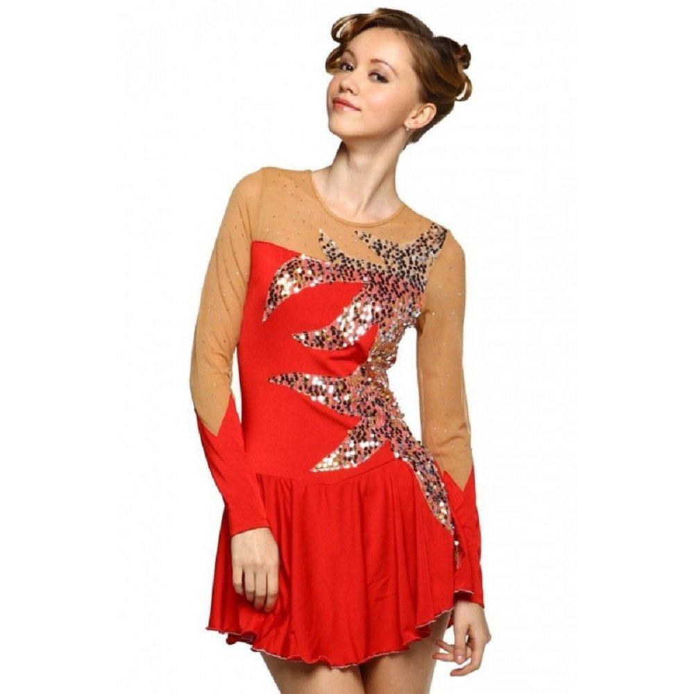 Amazon.com: Patinaje artístico vestido, rojo, M, Rojo: Clothing