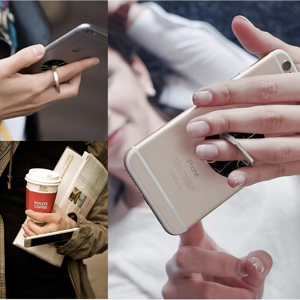 Diamond Love 4-Pack Phone Ring Holder 360 Rotation Finger Stand Grip Kickstand for Smartphones and Tablets