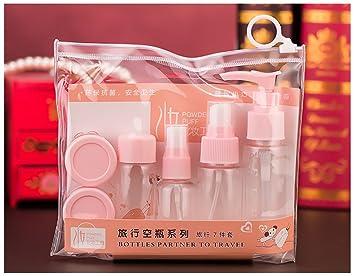 Tukistore 7 piezas / set Conjunto de botella de viaje para maquillaje cosméticos artículos de tocador