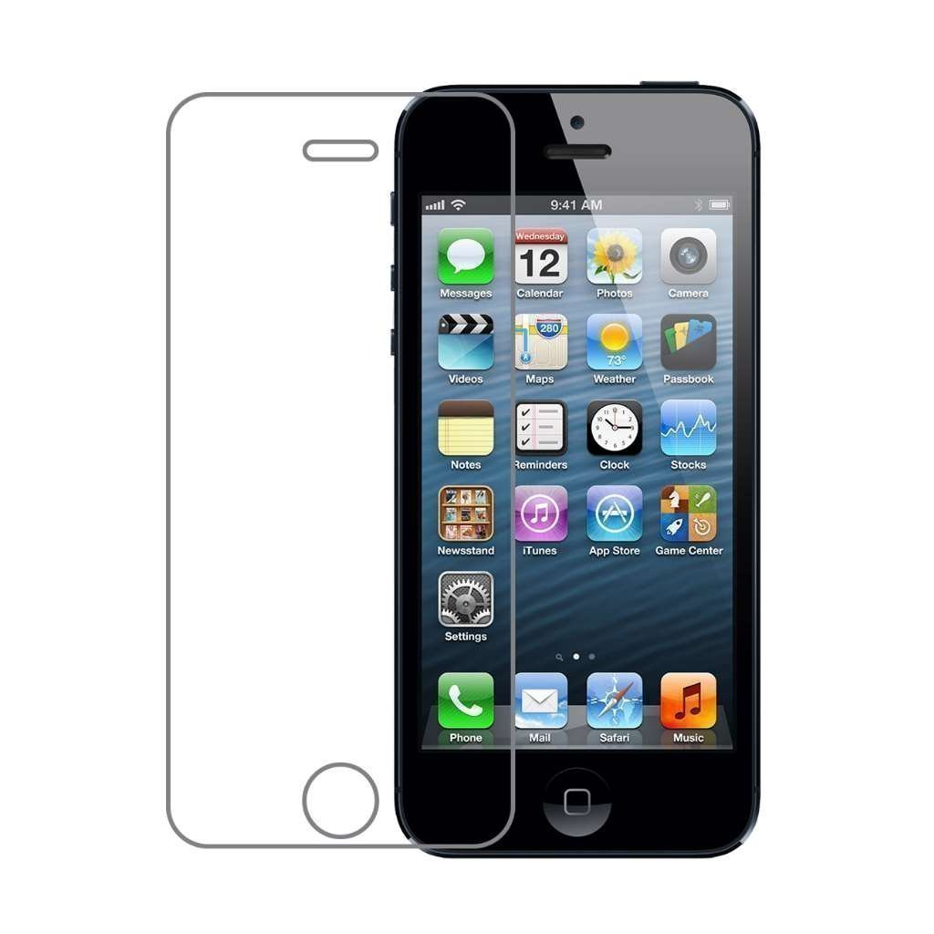 iPhone 5C Screen Protector,MLOVE High Definition Premium Tempered Glass Clear Screen Protector for Apple iPhone 5c by MLOVE (Image #1)