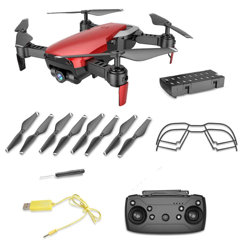 Choosebuy RC Drone with HD WiFi 0.3MP Camera Live Feed FPV 2.4G One Key Return Quadcopter Headless Mode Toy Outdoor Gift (Red) by Choosebuy (Image #1)