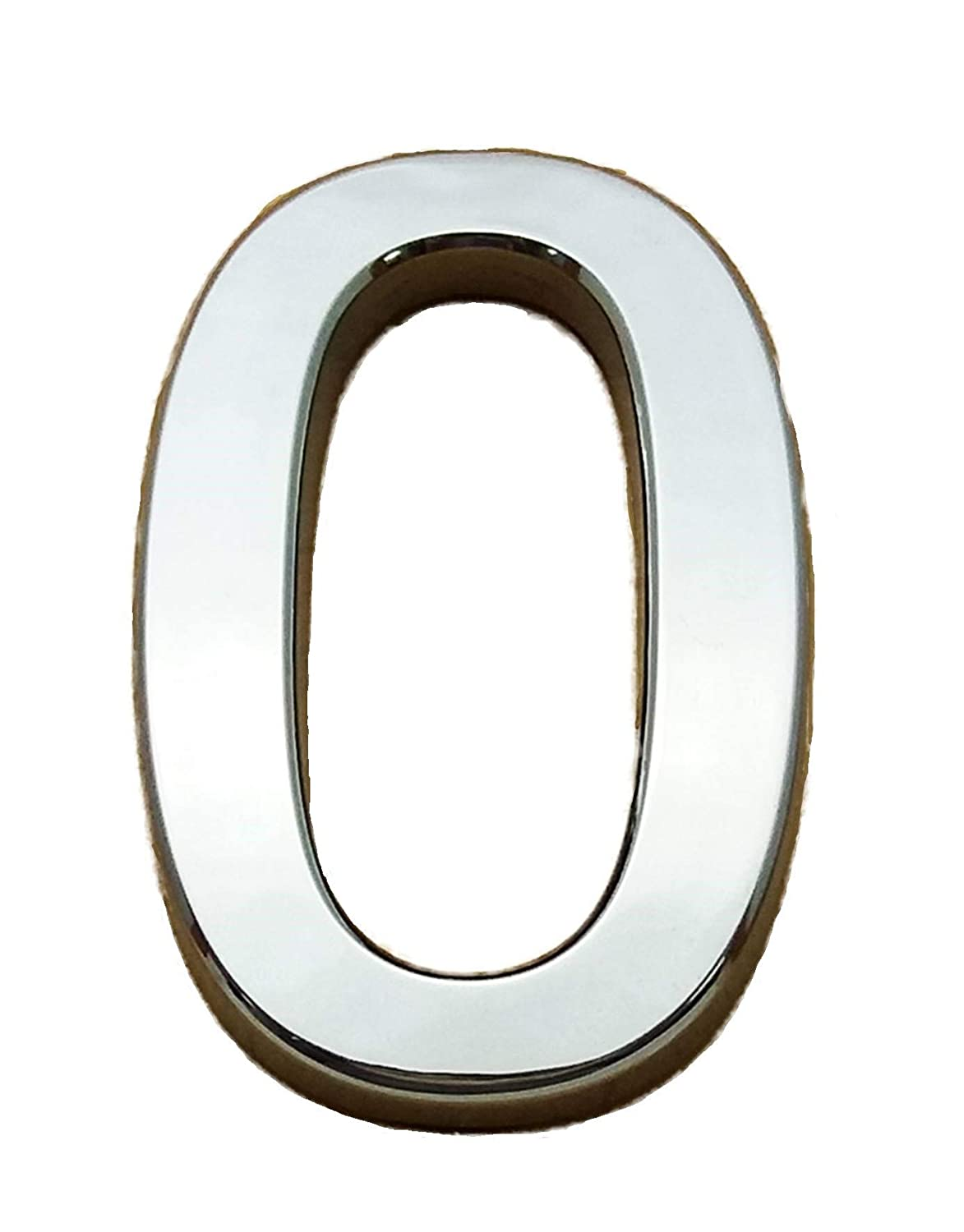 Self-Adhesive Chrome Number CURVED 7CM Height Figure: 8 AS Supplies