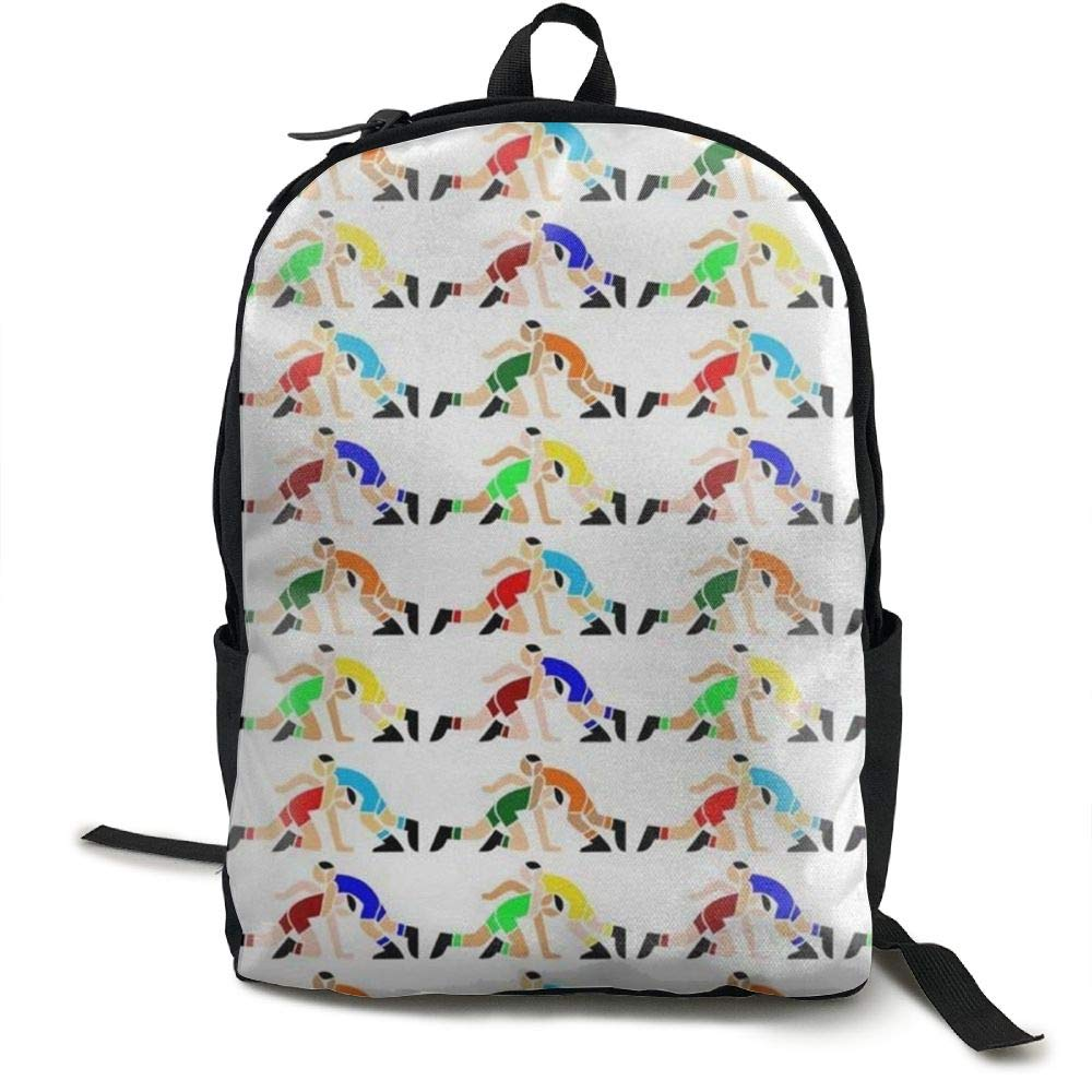 Malsjk8 Wrestling Wrestlers Pattern Unisex College Bag Fits up Laptop Casual Rucksack Waterproof School Backpack Daypacks