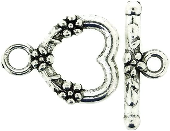 bronze 1050 sets clasps toogles heart pattern 16 x 12 mm