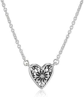 300abe85b0a7 Pandora Winter-Herz Kette, Kette aus Sterling-Silber 45cm 396370CZ-45