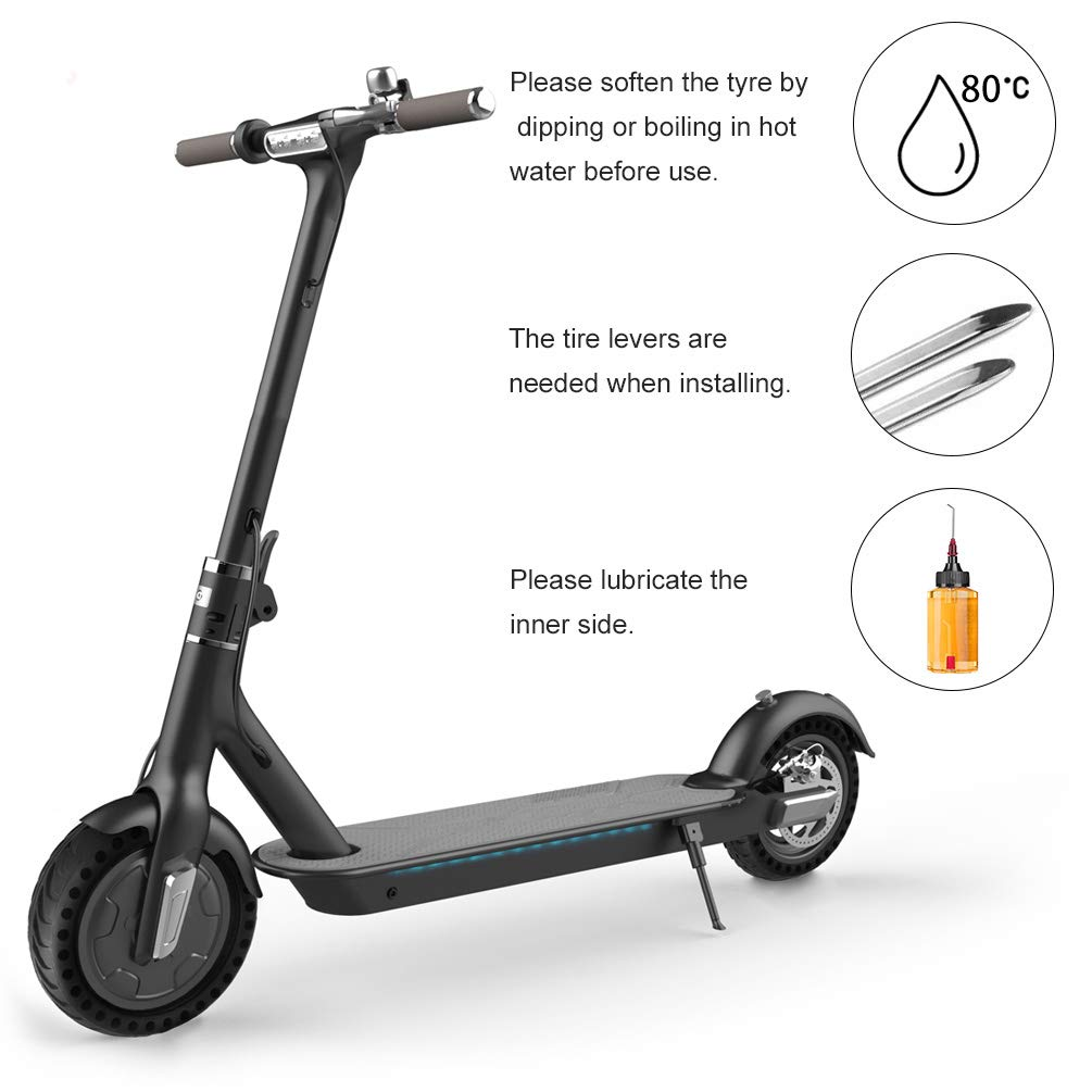 RUNACC Scooter eléctrico sólido neumático Plano Libre Scooter neumático de Goma Durable neumático de Repuesto Antideslizante para Xiaomi Scooter ...