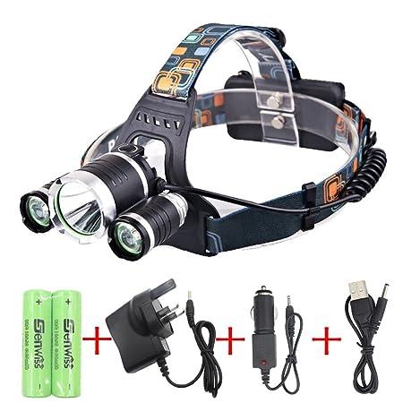UK 1800Lm CREE XML T6 LED Headlamp Headlight Head Torch 18650 Lamp Lighting