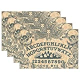 "HoDeColor Ouija Board Art Placemat Table Mat, 12"" x 18"" Washable Table Place Mats for Kitchen Dining Room Table Decoration 1 Piece"