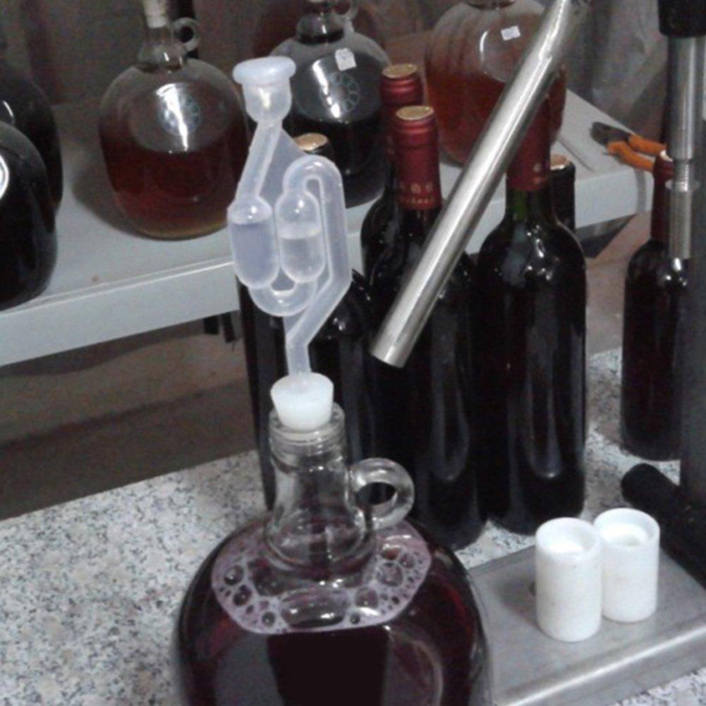 PURATEN vino Airlock home Serpentino Bubble Fermentor Airlock altamente trasparente plastica One Way Home Brew valvola vino Brew di