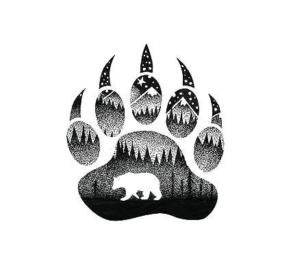 Sticker Art Bear Paw, Mountain Tough Outdoor Stickers, Waterproof Vinyl (4