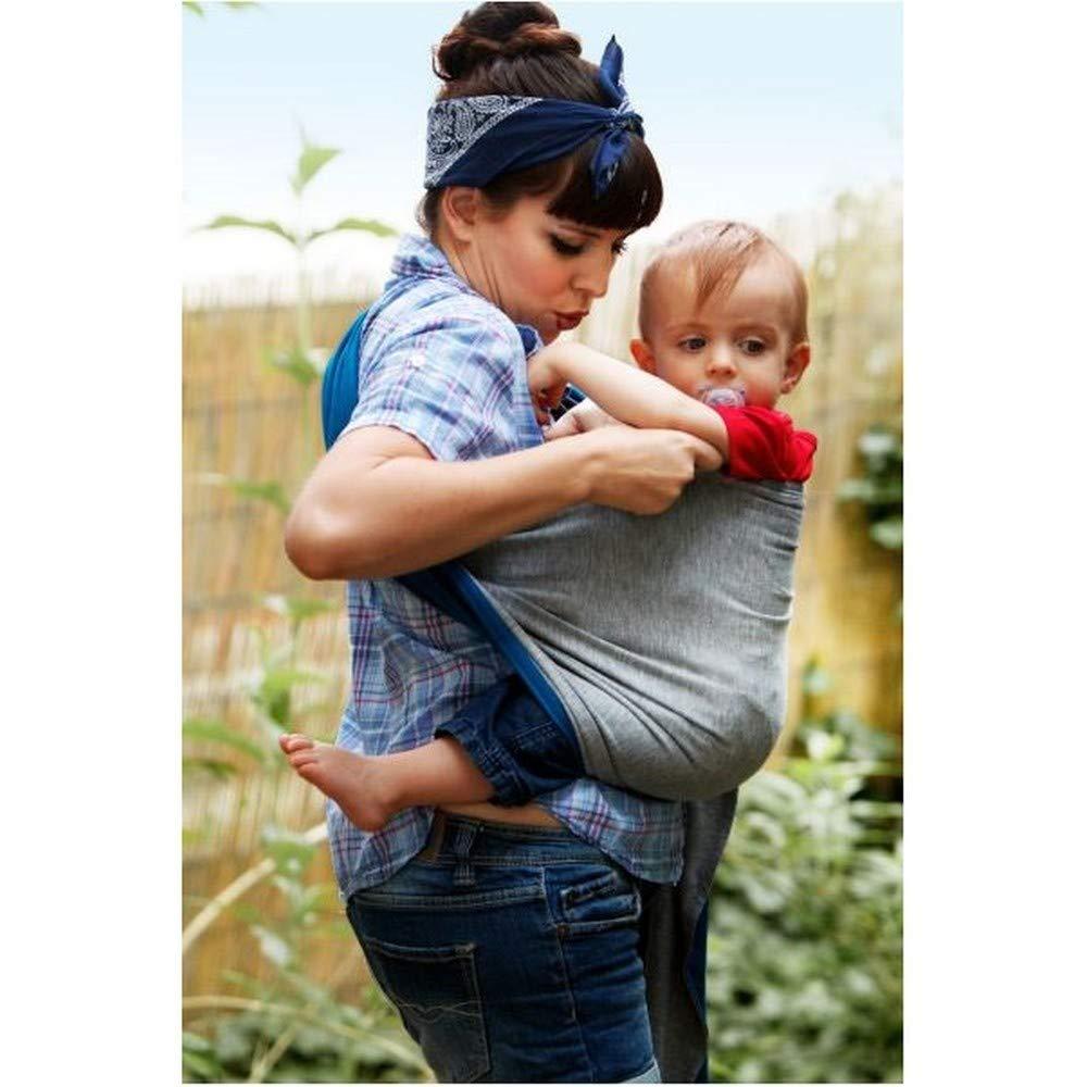 je porte mon bébé Petite Echarpe sans Nœud Chiné Bleu Canard  Amazon.fr   Bébés   Puériculture 37d2ef3d100