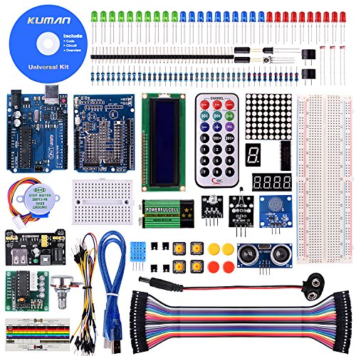 Kuman K4-US for Arduino Project Complete Starter Kit with Detailed Tutorial and Reliable Components for UNO R3 Mega 2560 Robot Nano breadboard Kits (Starter Set Mini)