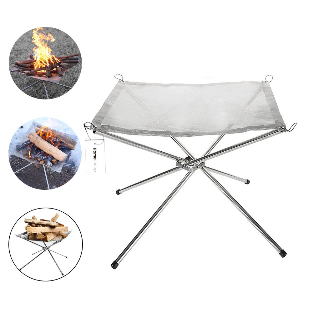 Homesheep Outdoor Fire Pit Portable Firepit with Air Blower for Camping Fire Pits Campsite Firepit
