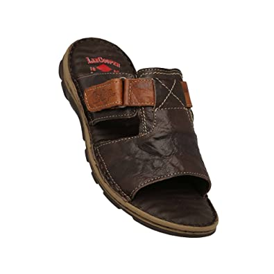 ca0e92e3a8e29 Lee Cooper Men s Brown Leather Flip Flops Thong Sandals - 6 UK India (40  EU)  Buy Online at Low Prices in India - Amazon.in