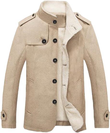 MatchLife Abrigo de lana para hombre, abrigo de invierno, chaqueta de lana, parka