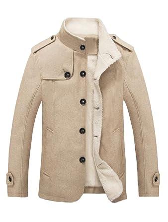 MatchLife Hombre Woll Abrigo Chaqueta Abrigo de Invierno ...