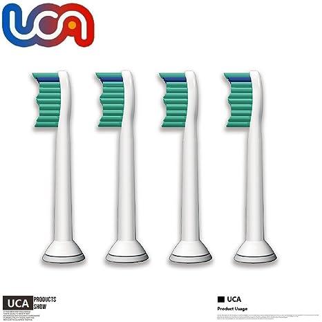 UCA ProResults HX6013/HX6014 - Pack de 4 Recambios cabezales para cepillos de dientes recargables