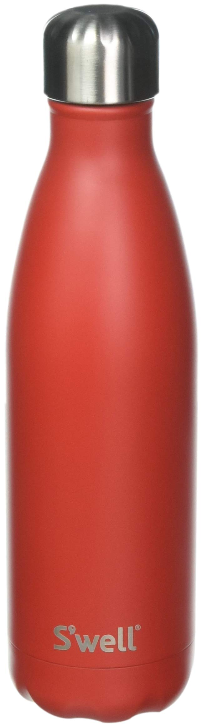 S'well 10017-A18-06660 Stainless Water Bottle, 17 oz, Scarlet