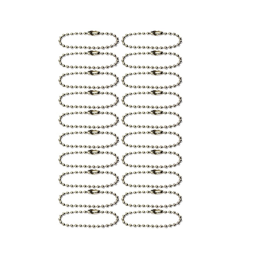Lot de 20pcs 10cm Cha/înes de Billes pour Scrapbooking Porte-cl/és Fabrication de Bijoux