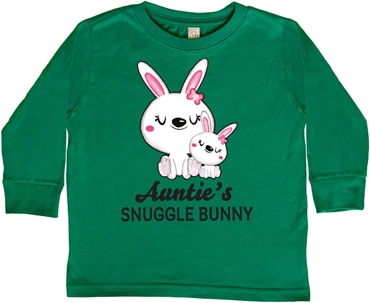 inktastic Aunties Snuggle Bunny Easter Toddler Long Sleeve T-Shirt