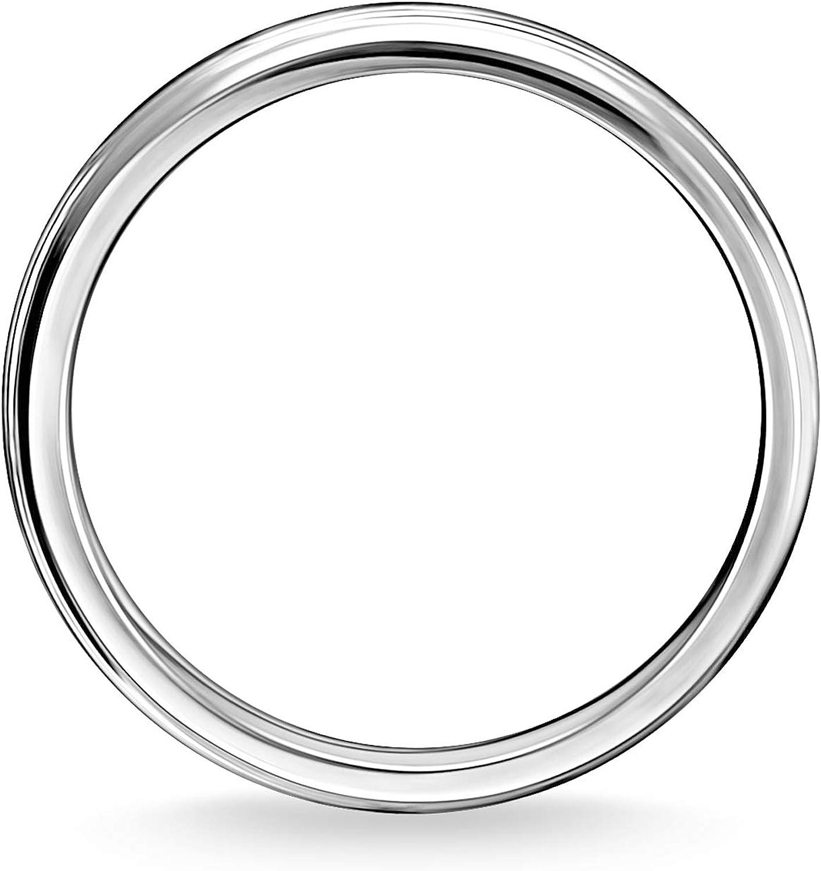 Silver 925 Sterling Silver Blackened TR2277-637-21 Thomas Sabo Unisex Ring Ornaments