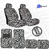 11pc Safari Car Mats Seat Steering Wheel Cover Set