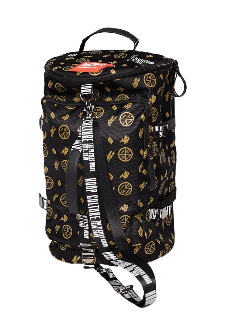 Hoop Culture - Men and Women Hoop Class MMX Duffle Travel Backpack Bag - Black