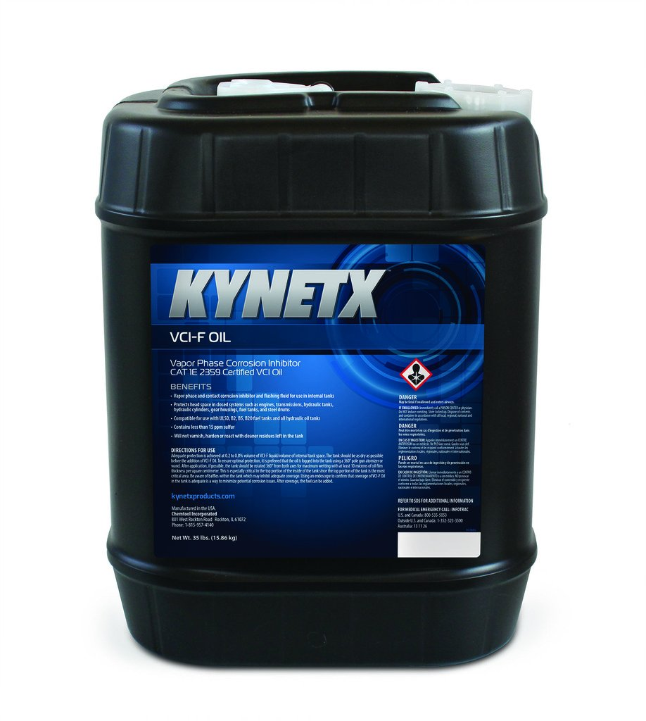 Kynetx VCI F Oil, 5 Gal Pail 8434A00000-KN5019 - High Performance, Easy To Use Rust Preventer. Corrosion inhibitor and flushing fluid