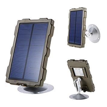 HCATNcame Trail Camera 1500mAh Cargador de batería Solar ...